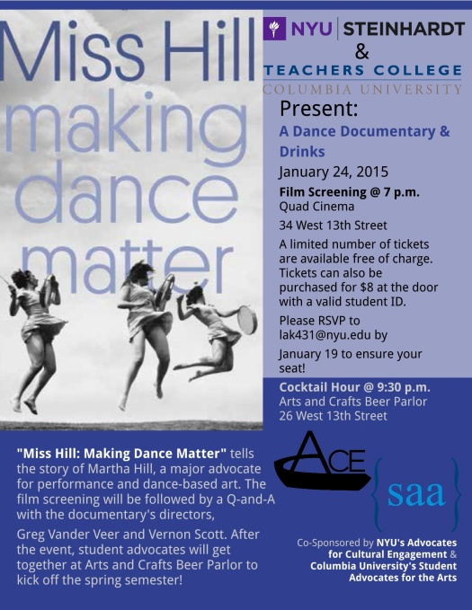 Miss Hill Making Dance Happen Flyer